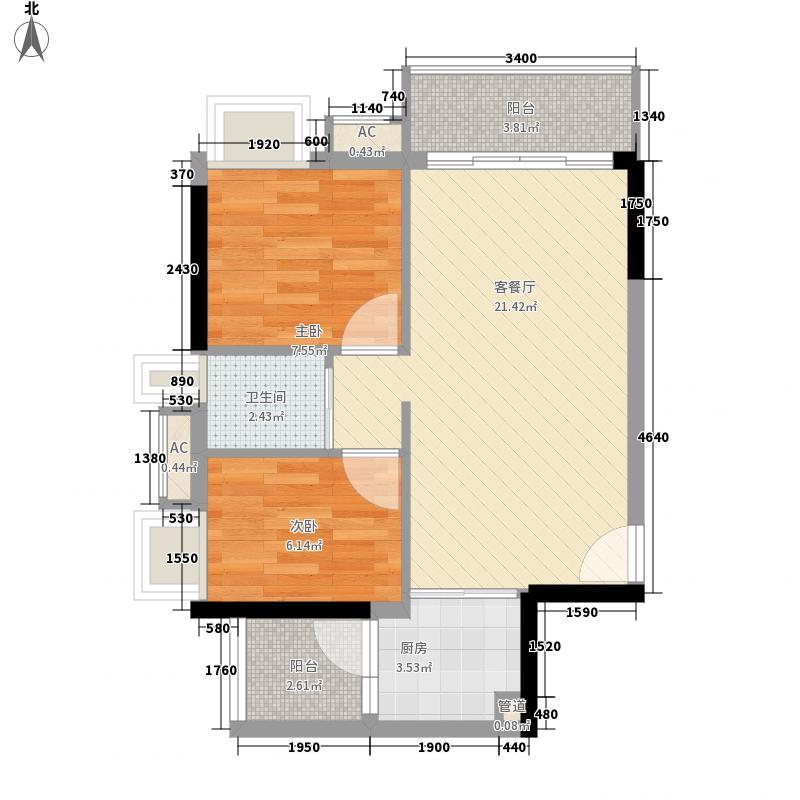布宜诺斯69.36㎡4栋02单位2面积6936m户型