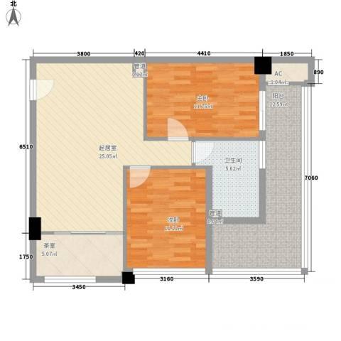 名尚国际2室0厅1卫0厨103.00㎡户型图
