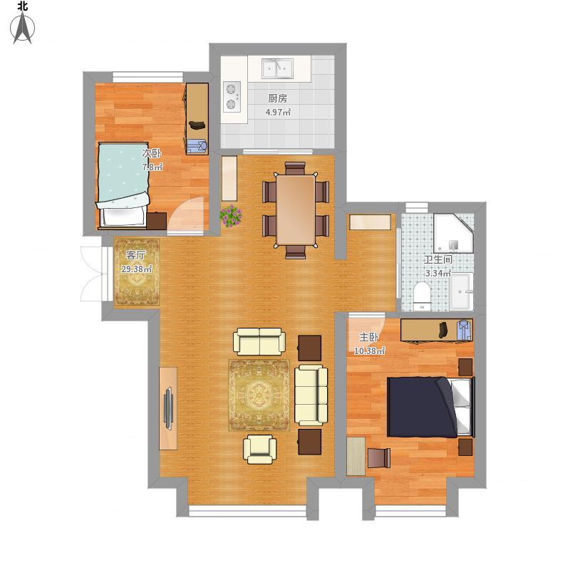 米东公务员小区130㎡两室一厅一厨一卫