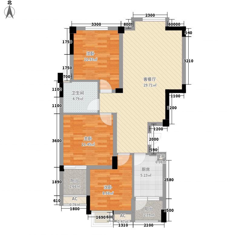 福康瑞琪曼国际社区99.66㎡3室2厅