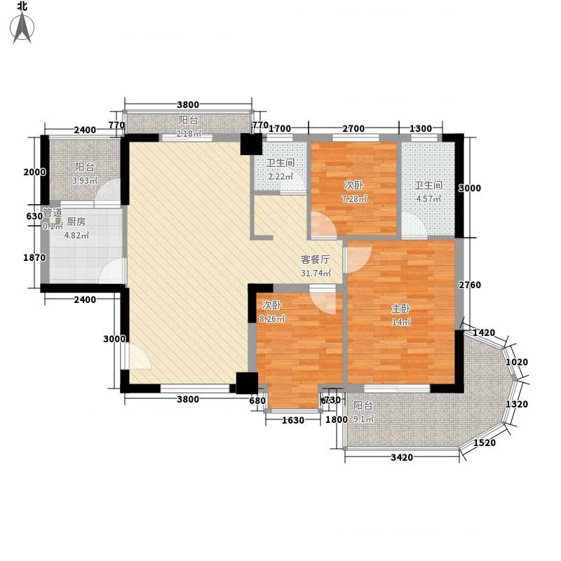 银泰大智嘉园120.36㎡2#楼D面积12036m户型