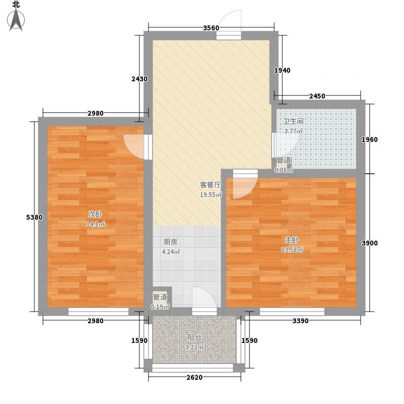独秀园小区 2室 户型图