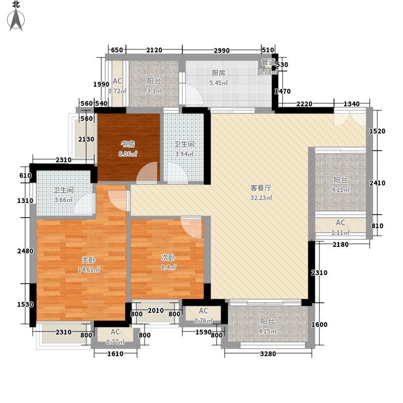 保利香雪90.00㎡三期25、26号楼面积9000m户型