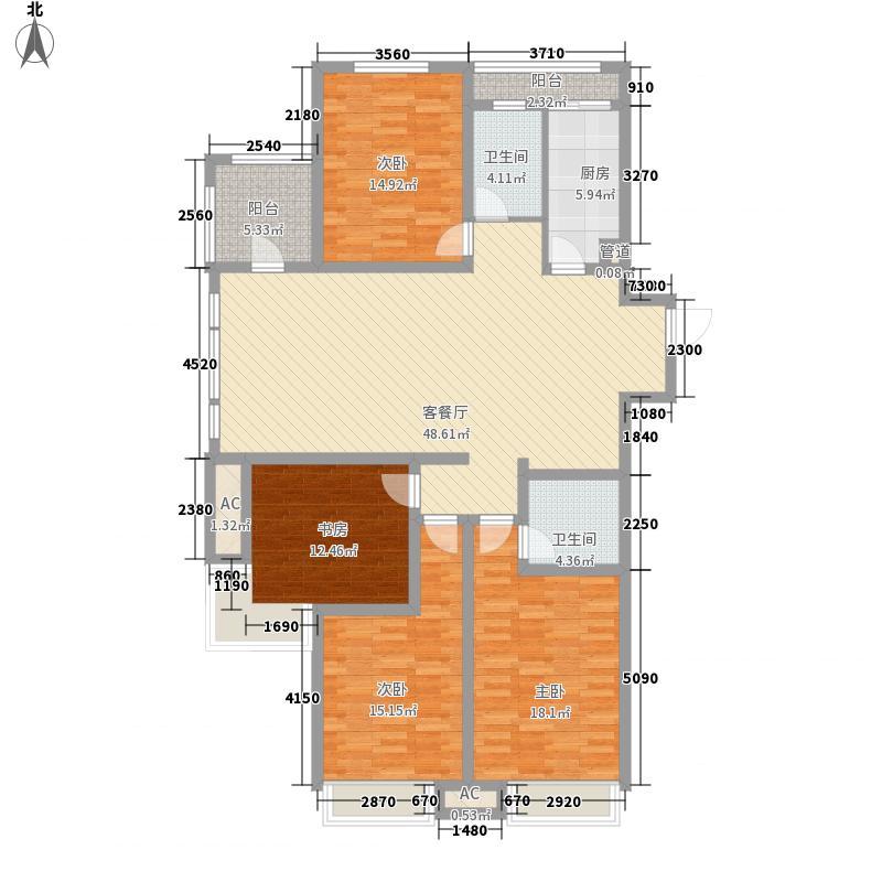 鑫苑现代城190.00㎡二期5号楼A3户面积19000m户型
