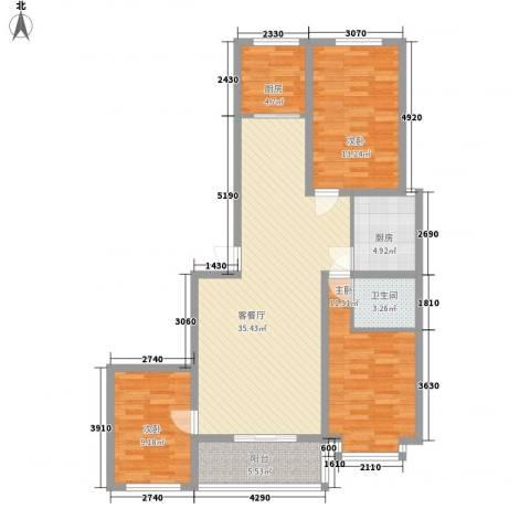 水悦雅居3室1厅1卫2厨146.00㎡户型图