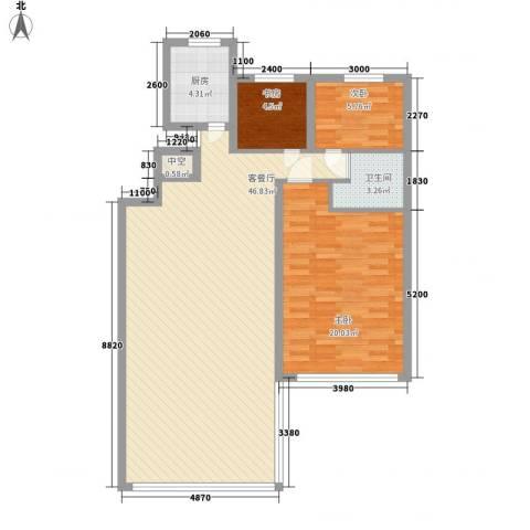 恒奥・凤凰城3室1厅1卫1厨122.00㎡户型图