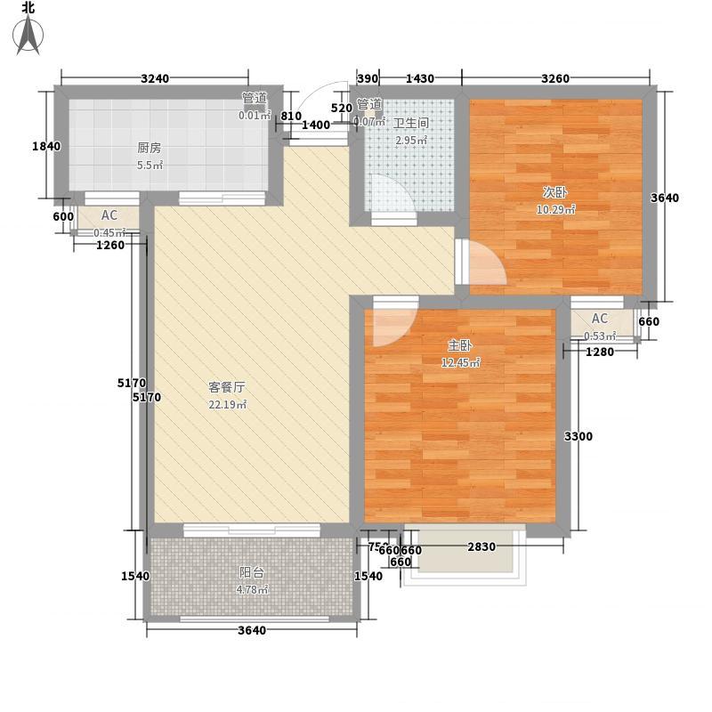 中央华府一期D2号楼标准层C户型