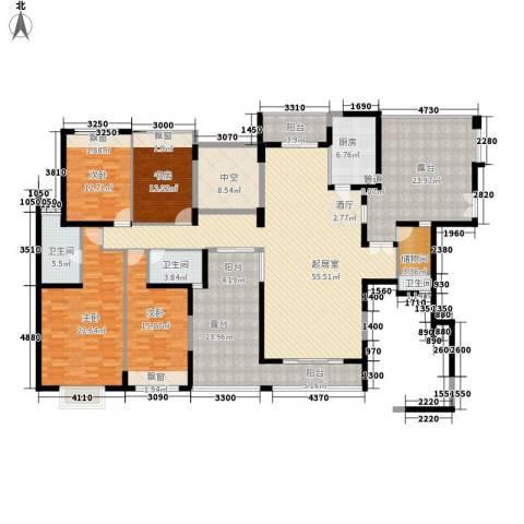 中央公馆蟠龙住宅4室0厅3卫1厨223.00㎡户型图