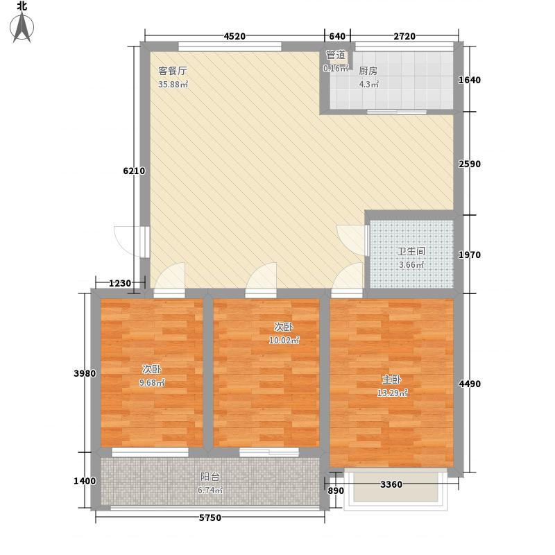 华东龙泉太阳城二期多层4#楼L户型