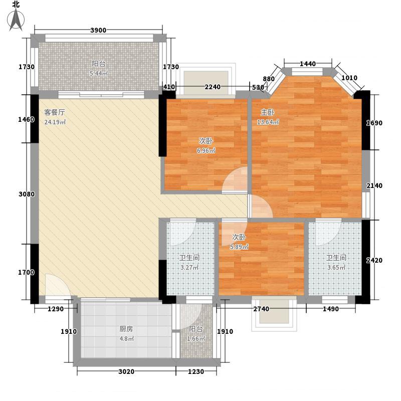 帝景蓝湾101.00㎡帝景蓝湾户型图似水年华3室2厅2卫户型3室2厅2卫