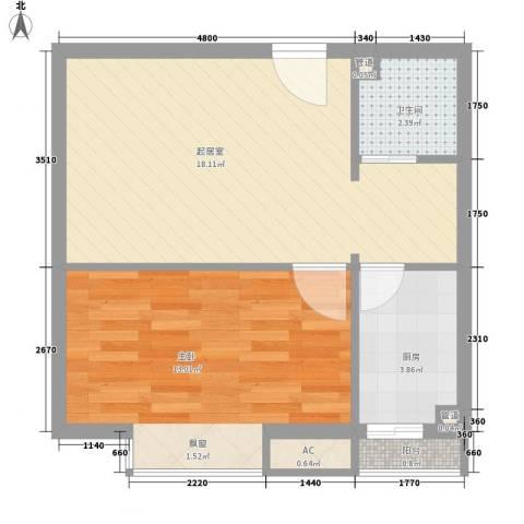 飞云花园1室0厅1卫1厨133.00㎡户型图