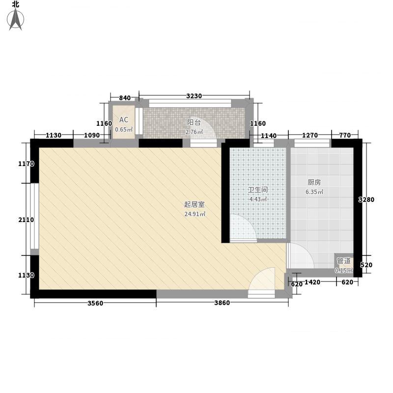 碧水蓝天二期77.00㎡一期13号楼B'户型2室2厅1卫1厨