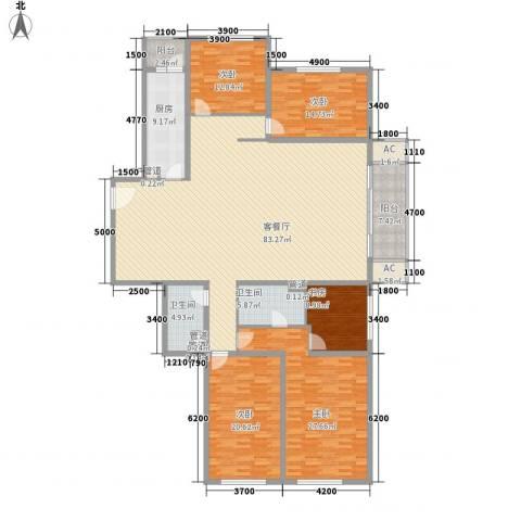 未来世界花园5室1厅2卫1厨280.00㎡户型图