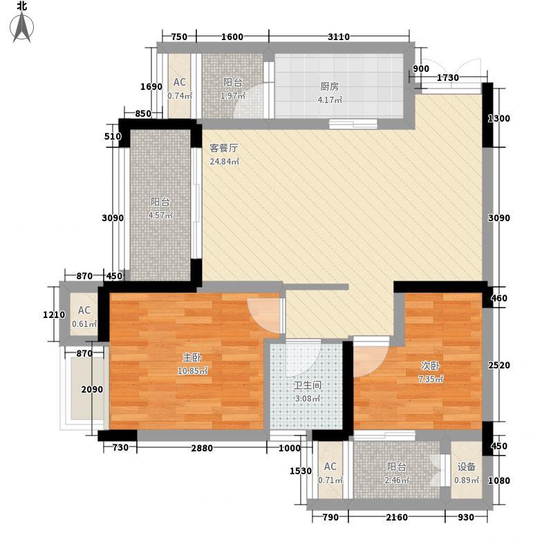 保利香雪63.00㎡一期6号楼标准层面积6300m户型