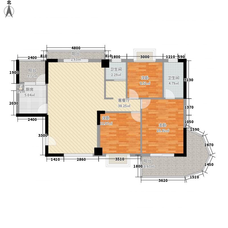 银泰大智嘉园133.40㎡3#楼E面积13340m户型