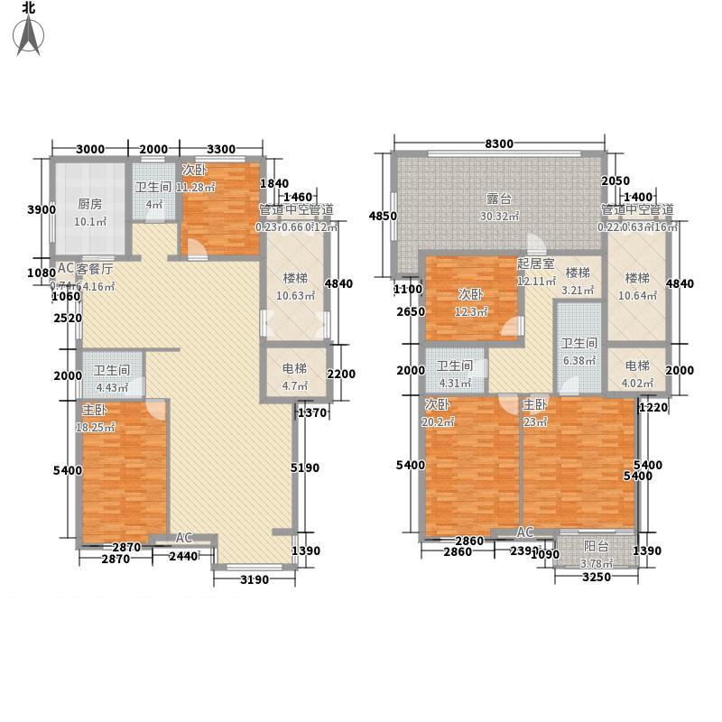 艾依公馆226.38㎡D2户型5室2厅3卫1厨