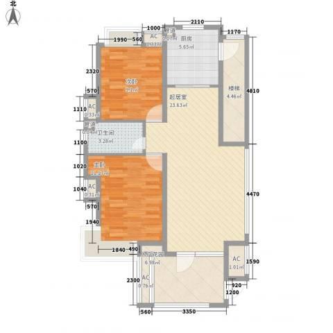 名尚国际2室0厅1卫1厨67.11㎡户型图