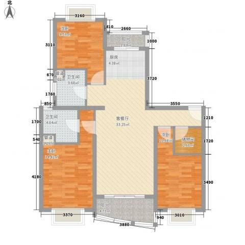 秋月枫舍3室1厅2卫0厨123.00㎡户型图