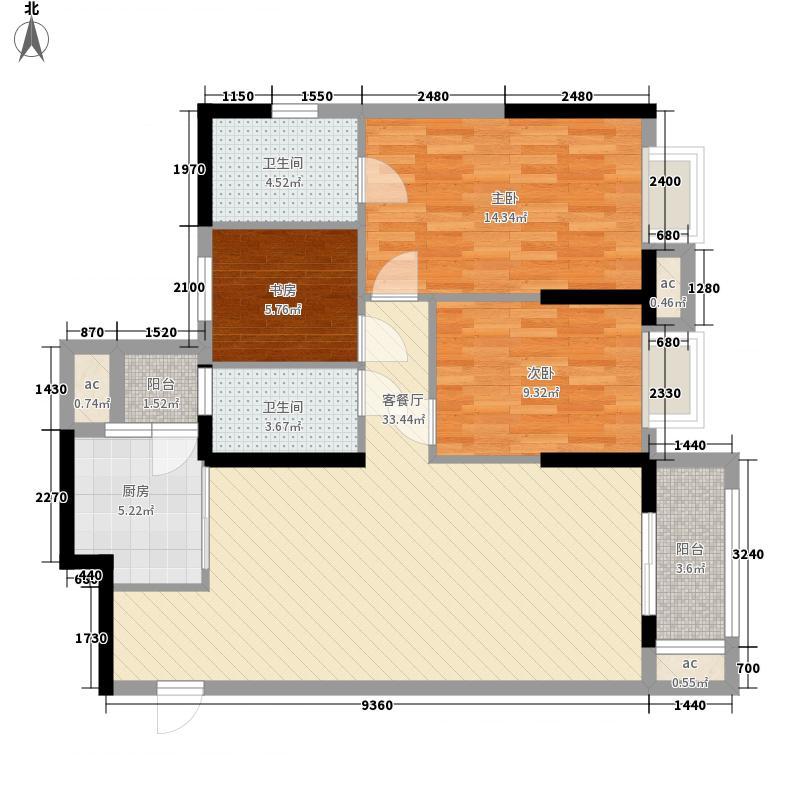 美联联邦生活区一期美联时光里k-1-2号楼E户型