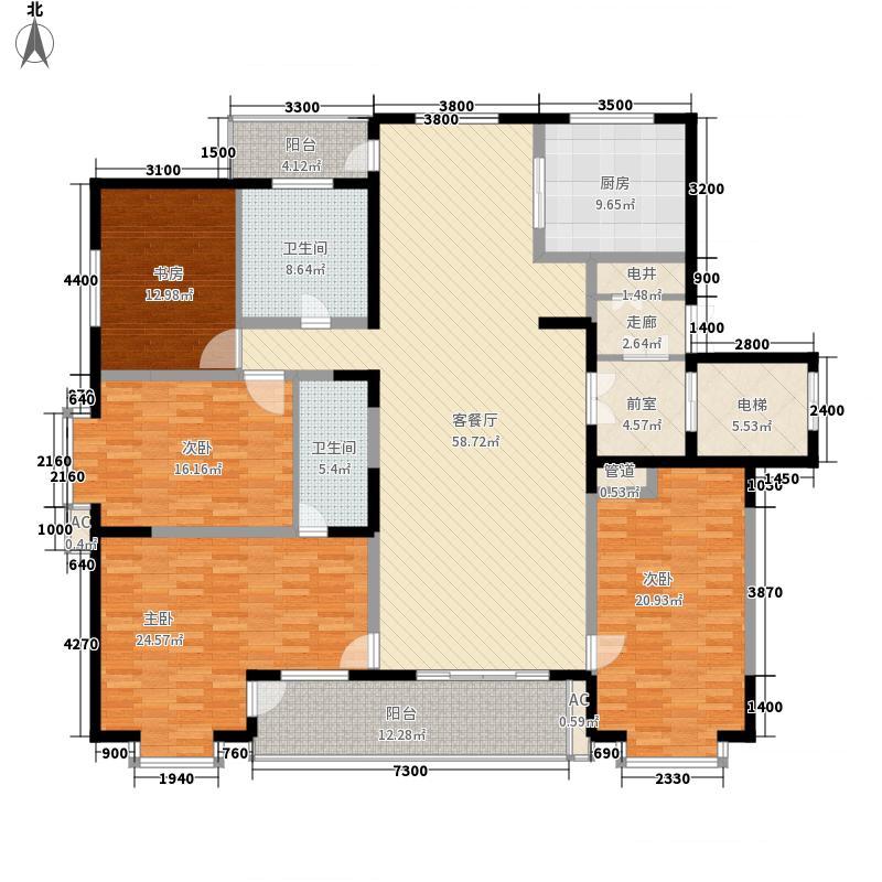 福顺尚都155.76㎡十二号楼户型3室2厅2卫1厨