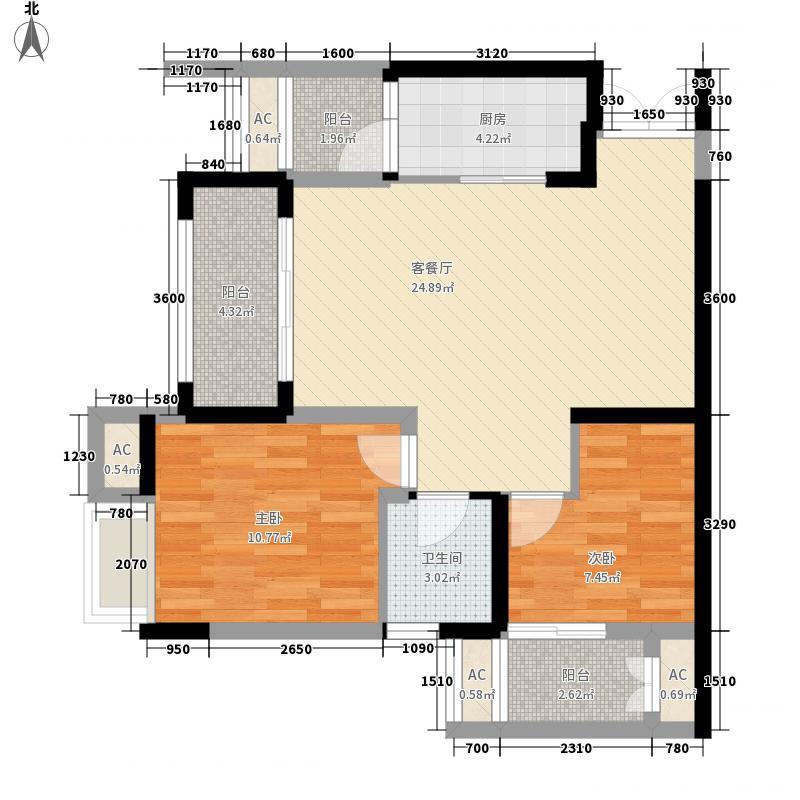 保利香雪63.00㎡一期6/31号楼标面积6300m户型