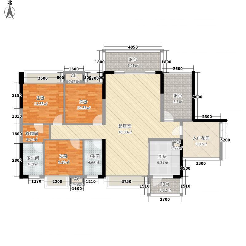 王洲湾1号6栋标准层G户型