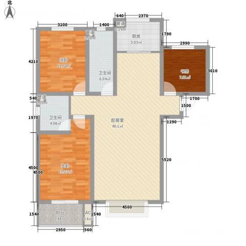 中央公馆蟠龙住宅3室0厅2卫1厨132.00㎡户型图
