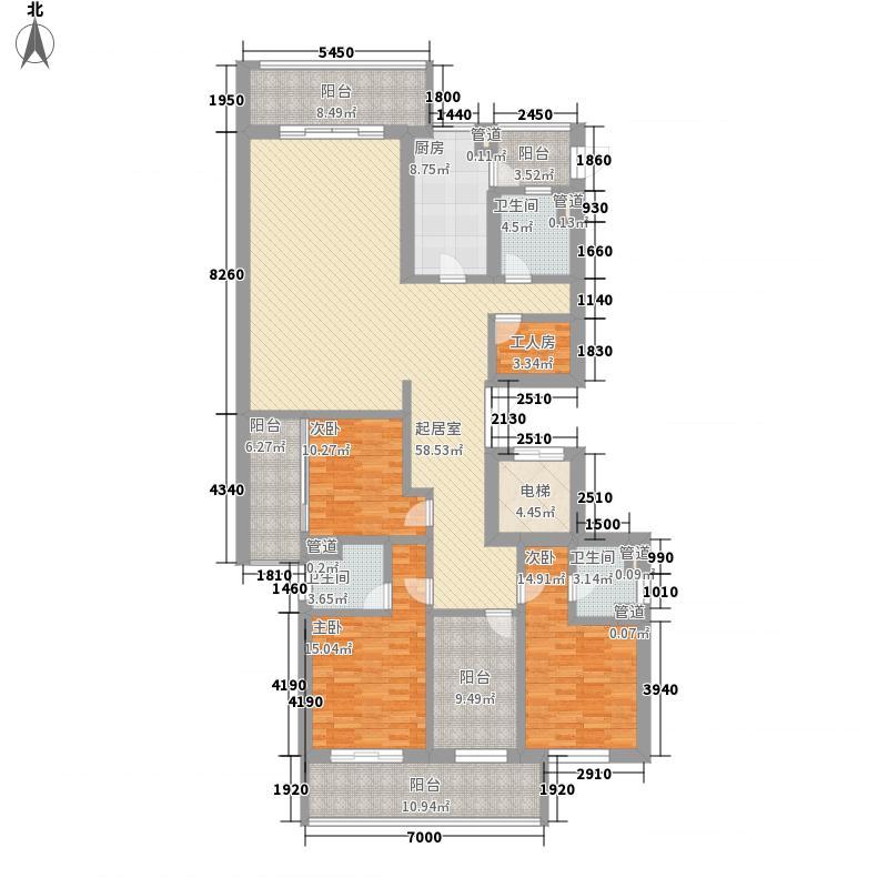 世茂国际花园250.00㎡世茂国际花园户型图臻园1#L户型3室2厅3卫1厨户型3室2厅3卫1厨