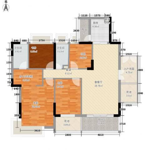布宜诺斯4室1厅2卫1厨147.00㎡户型图