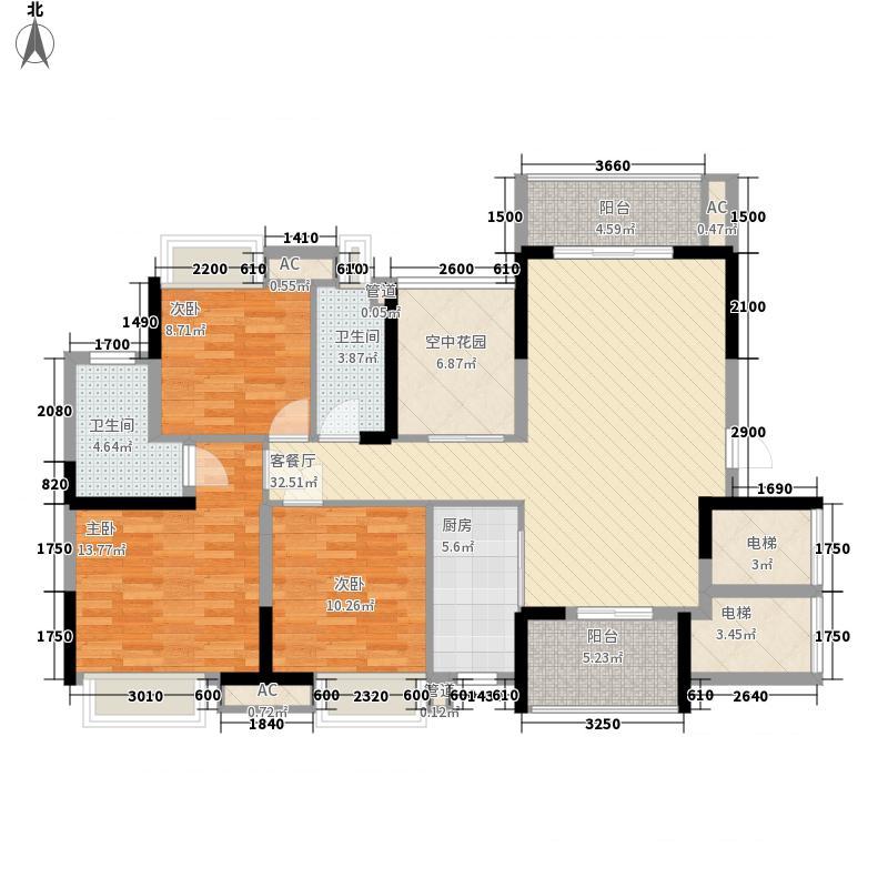 汇景城市山谷洋房3+1户型