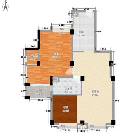 新园中区1室0厅1卫0厨90.96㎡户型图