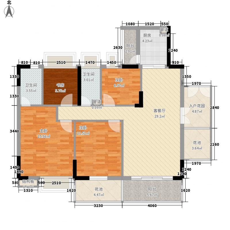 布宜诺斯144.47㎡A2栋2层-14层02面积14447m户型