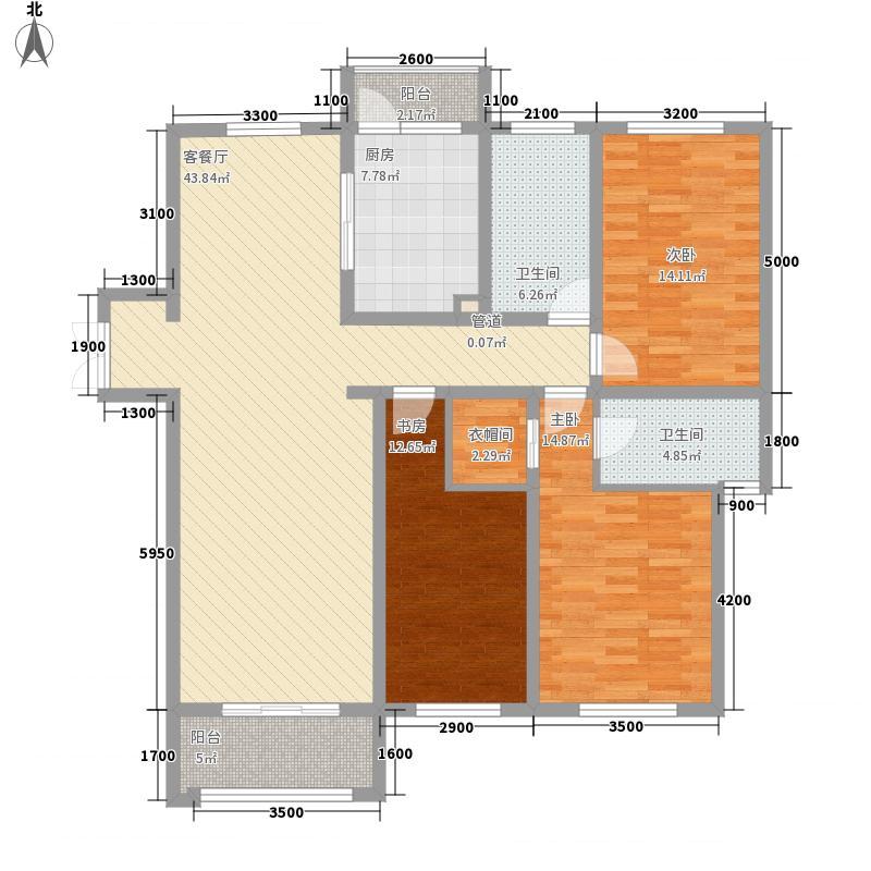 实力粼湖居158.81㎡二期12#楼标准层B2【团购】户型3室2厅2卫1厨