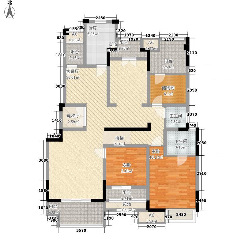 保利江上海棠花园洋房5、6号楼A1户型