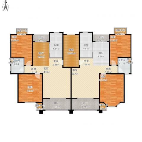 嘉定颐景园4室2厅2卫2厨230.00㎡户型图
