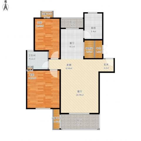 嘉定颐景园2室1厅1卫1厨115.00㎡户型图
