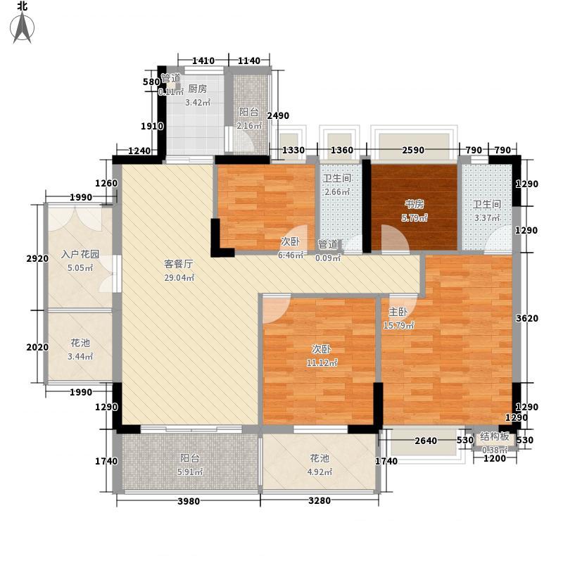 布宜诺斯142.80㎡A2栋16-18层01面积14280m户型