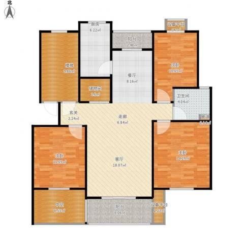 嘉定颐景园3室1厅1卫1厨151.00㎡户型图