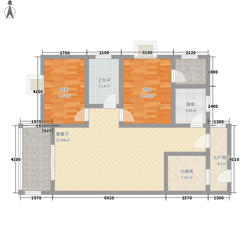 中原花园三期113.66㎡7#标准户型3室2厅1卫1厨
