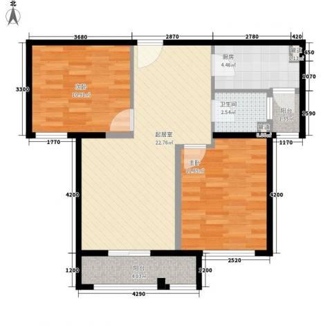 未来城2室0厅1卫1厨82.00㎡户型图