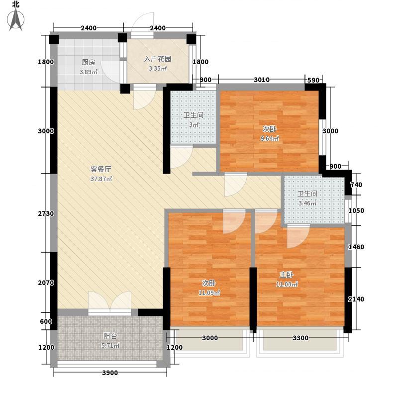 玉龙湾天骄广场12.62㎡4#楼B区d户型3室2厅2卫1厨