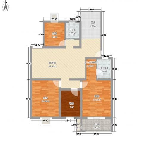 明华家园4室0厅2卫0厨134.00㎡户型图