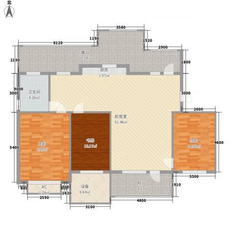 新发翡翠花溪3室0厅1卫0厨146.52㎡户型图