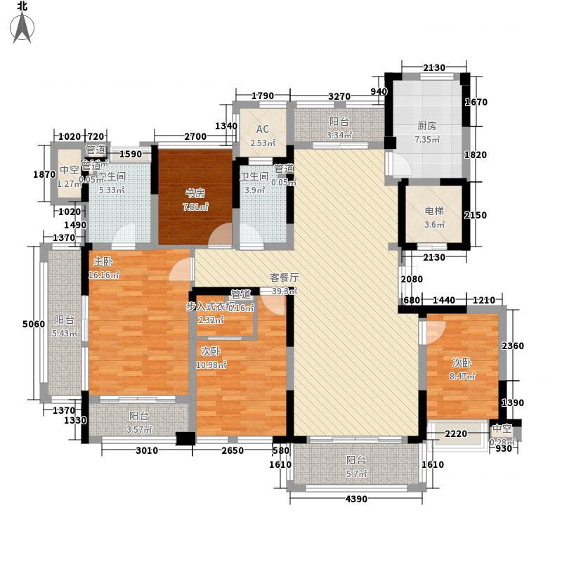华侨城欢乐海岸188.00㎡D户型4室2厅2卫1厨