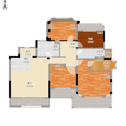 金地松江艺境4室1厅2卫1厨172.00㎡户型图