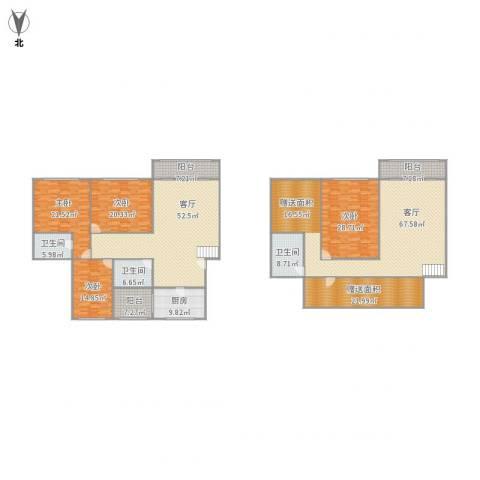 安康新村4室2厅3卫1厨371.00㎡户型图