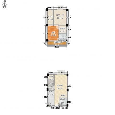 香木林加州国际1室0厅2卫1厨62.62㎡户型图