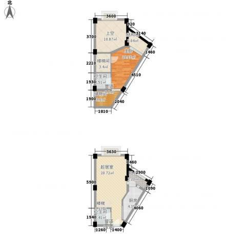 香木林加州国际1室0厅2卫1厨63.45㎡户型图