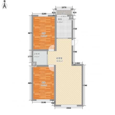 世纪馨园2室0厅1卫1厨97.00㎡户型图