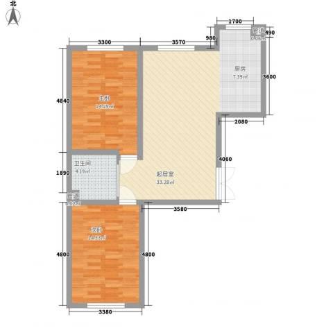 世纪馨园2室0厅1卫0厨86.00㎡户型图